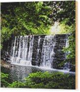 Mainline Waterfall Wood Print