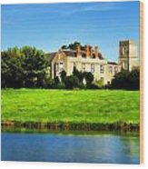Maisemore Court And Church Wood Print