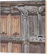 Maison De Bois Macon - Detail Wood Front Wood Print
