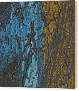 Maize And Blue Wood Print