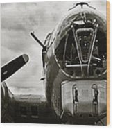Majestic B17 Bomber From Ww II Wood Print