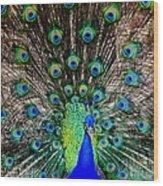 Majestic Blue Wood Print