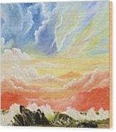 Majestic Clouds Wood Print