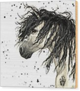 Majestic Grey Spirit Horse #44 Wood Print