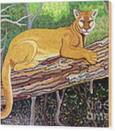 Majestic Hand Embroidery Wood Print