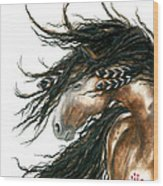 Majestic Pinto Horse 80 Wood Print