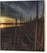 Majestic Lake Sunset Wood Print