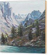 Majestic Montana Wood Print