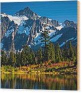Majestic Mount Shuksan Wood Print by Inge Johnsson