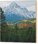 Majestic Mt. Sneffels Wood Print by John Hoffman