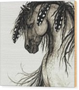 Majestic Mustang Horse Series #51 Wood Print by AmyLyn Bihrle
