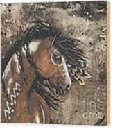 Majestic Mustang Series 61 Wood Print