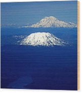 Majestic Northwest Mountains And The Mighty Columbia River Wood Print
