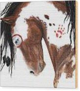 Majestic Pinto Horse 129 Wood Print