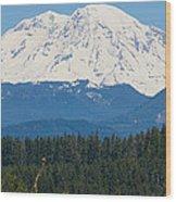 Majestic Rainier Wood Print