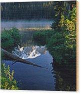 Majestic Reflection Wood Print by Inge Johnsson