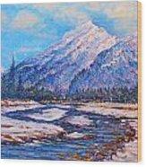 Majestic Rise - Impressionism Wood Print by Joseph   Ruff