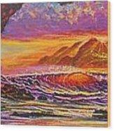 Majestic Purple Sunset  Wood Print