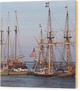 Majestic Tall Ships Wood Print