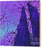 Majestic Tree Of Wild Texture Wood Print