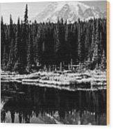 Majestic View 2bw Wood Print