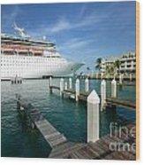 Majesty Of The Seas Docked At Key West Florida Wood Print