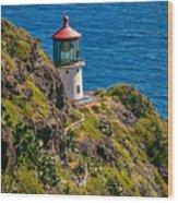 Makapu'u Point Lighthouse Wood Print