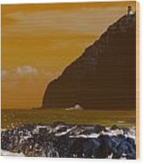 Makapuu Point Lighthouse- Oahu Hawaii V4 Wood Print