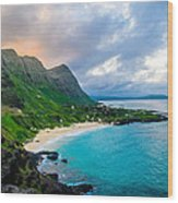 Makapu'u Sunset Wood Print