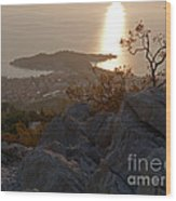 Makarska - Evening Light Wood Print