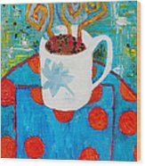 Coffee  By Janelle Dey Wood Print