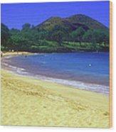 Makena Beach Maui Hawaii Wood Print