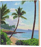Makena Beach - Maui Wood Print