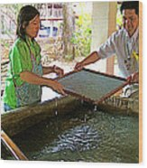 Making Paper Using Mulberry Tree Pulp At Boring Paper Factory In Chiand Mai-thailand Wood Print