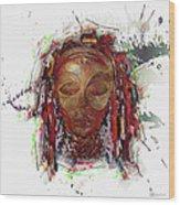 Makonde Mapiko - Lipiko Mask Wood Print