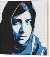 Malala Yousafzai On Friday Wood Print