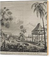 Malaspina Expedition. Philippines 1792 Wood Print