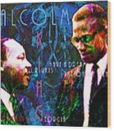 Malcolm And The King 20140205p180 With Text Wood Print