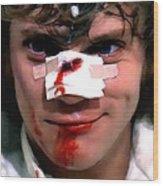 Malcolm McDowell as Alex in the film Clockwork Orange by Stanley Kubrick 1971 Wood Print