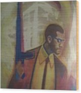 Necessary Means Of Malcolm X Wood Print