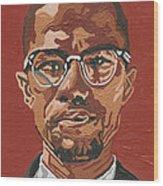 Malcolm X Wood Print