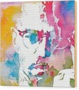 Malcolm X Watercolor Wood Print