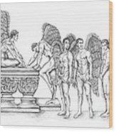 Male Angels Wood Print