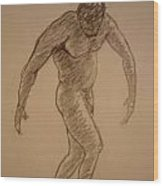 Male Croquis Wood Print
