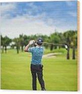Male Golf Player  Wood Print