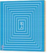 Male Maze Icon Wood Print
