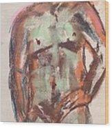 Male Seafoam And Violet Brown Wood Print