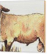 Male sheep black Wood Print
