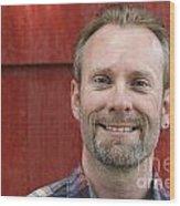 Male Smiling Wood Print