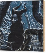 Maleficent In Winter's Woods Wood Print